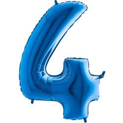 Μπαλόνι Αριθμός 4 Μπλέ 90εκ.
