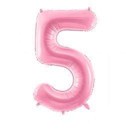 Μπαλόνι Αριθμός 5 Ροζ 86εκ.