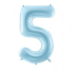 Μπαλόνι Αριθμός 5 Γαλάζιο 86εκ.