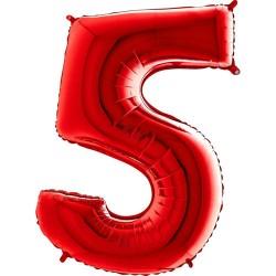 Μπαλόνι Αριθμός 5 Κόκκινο 90εκ.