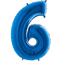 Μπαλόνι Αριθμός 6 Μπλέ 90εκ.