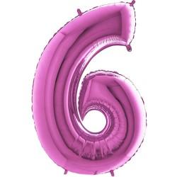 Μπαλόνι Αριθμός 6 Φούξια 90εκ.