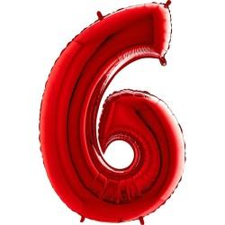 Μπαλόνι Αριθμός 6 Κόκκινο 90εκ.