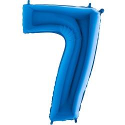 Μπαλόνι Αριθμός 7 Μπλέ 90εκ.