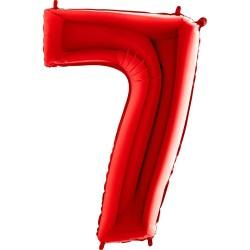 Μπαλόνι Αριθμός 7 Κόκκινο 90εκ.