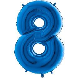 Μπαλόνι Αριθμός 8 Μπλέ 90εκ.