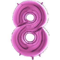 Μπαλόνι Αριθμός 8 Φούξια 90εκ.