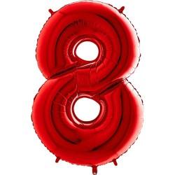 Μπαλόνι Αριθμός 8 Κόκκινο 90εκ.
