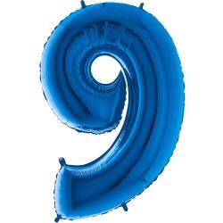 Μπαλόνι Αριθμός 9 Μπλέ 90εκ.