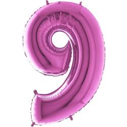 Μπαλόνι Αριθμός 9 Φούξια 90εκ.