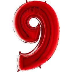 Μπαλόνι Αριθμός 9 Κόκκινο 90εκ.