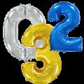 Μπαλόνια Foil Αριθμοί