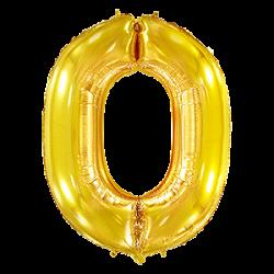 Μπαλόνι Αριθμός 0 Χρυσό 90εκ.