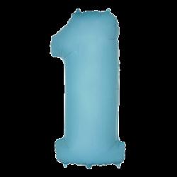 Μπαλόνι Αριθμός 1 Γαλάζιο 90εκ.