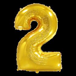 Μπαλόνι Αριθμός 2 Χρυσό 90εκ.