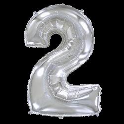 Μπαλόνι Αριθμός 2 Ασημί 90εκ.