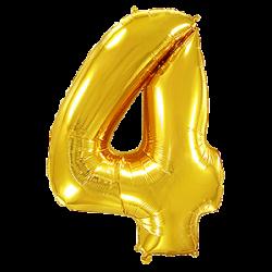 Μπαλόνι Αριθμός 4 Χρυσό 90εκ.