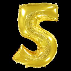 Μπαλόνι Αριθμός 5 Χρυσό 90εκ.