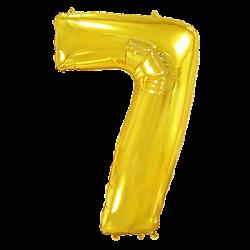 Μπαλόνι Αριθμός 7 Χρυσό 90εκ.