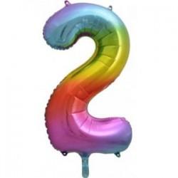 Μπαλόνι Αριθμός 2 Rainbow 78εκ.