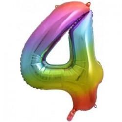 Μπαλόνι Αριθμός 4 Rainbow 78εκ.