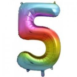 Μπαλόνι Αριθμός 5 Rainbow 78εκ.