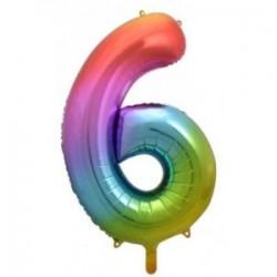 Μπαλόνι Αριθμός 6 Rainbow 78εκ.