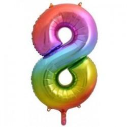 Μπαλόνι Αριθμός 8 Rainbow 78εκ.