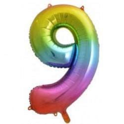 Μπαλόνι Αριθμός 9 Rainbow 78εκ.