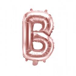 Μπαλόνι Γράμμα B Ροζ-Χρυσό 35εκ