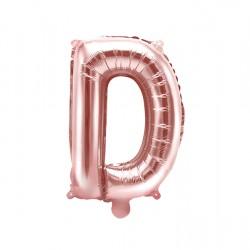 Μπαλόνι Γράμμα D Ροζ-Χρυσό 35εκ