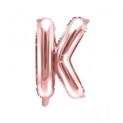 Μπαλόνι Γράμμα K Ροζ-Χρυσό 35εκ