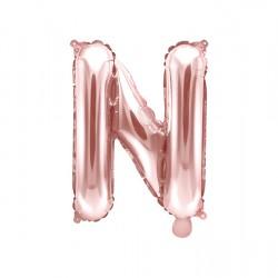 Μπαλόνι Γράμμα N Ροζ-Χρυσό 35εκ