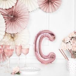 Μπαλόνι Γράμμα C Ροζ-Χρυσό 35εκ