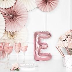Μπαλόνι Γράμμα E Ροζ-Χρυσό 35εκ