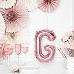 Μπαλόνι Γράμμα G Ροζ-Χρυσό 35εκ