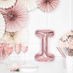 Μπαλόνι Γράμμα I Ροζ-Χρυσό 35εκ