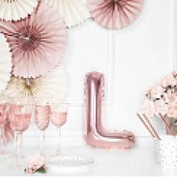Μπαλόνι Γράμμα L Ροζ-Χρυσό 35εκ