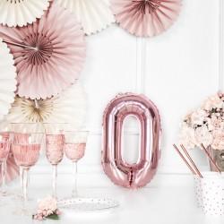 Μπαλόνι Γράμμα O Ροζ-Χρυσό 35εκ