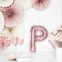 Μπαλόνι Γράμμα P Ροζ-Χρυσό 35εκ