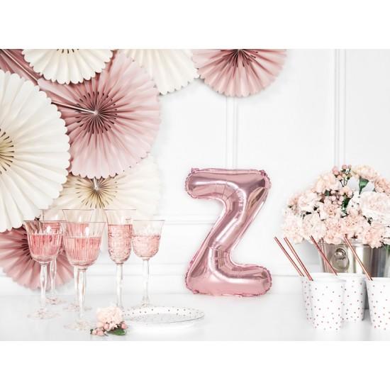 Μπαλόνι Γράμμα Z Ροζ-Χρυσό 35εκ