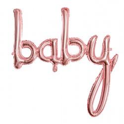 Foil Μπαλόνι Baby Ροζ Χρυσό