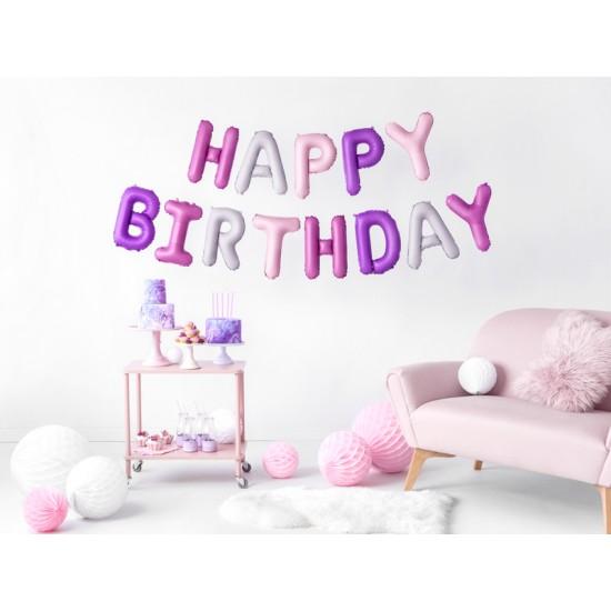 Foil Μπαλόνι Happy Birthday Πολύχρωμο