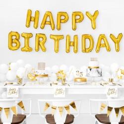 Foil Μπαλόνι Happy Birthday Χρυσό
