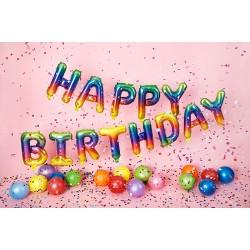 Foil Μπαλόνι Happy Birthday Rainbow