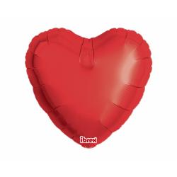 "18"" foil Καρδιά Κόκκινη με ήλιον"