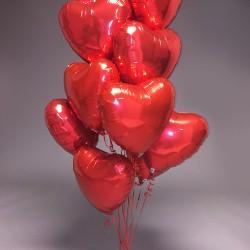 Μπουκέτο μπαλονιών με Foil καρδιές