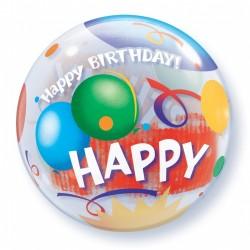Μπαλόνι  Bubble  Happy Birthday Balloons