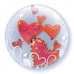 Μπαλόνι Double Bubble  Καρδιές