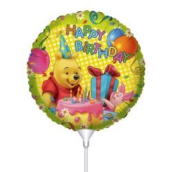 Μπαλόνι με καλαμάκι Winnie Happy Birthday